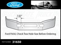 Ford F650 Chrome Bumper ( Ceck Tow Hole Measurements Before Ordering)
