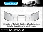 "Freightliner Cascadia 14"" chrome replacement for poly/plastic Bumper"