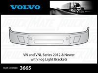 Volvo VN and VNL 2012 & Newer Chrome Bumper