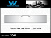"Western Star Cornerstone 1989 & Newer 18"" Texas Square Chrome Bumper"