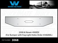Western Star 4900EX 2008 & Newer Tapered Chrome Bumper